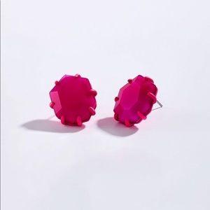 NWT Kendra Scott Morgan Magenta Earrings